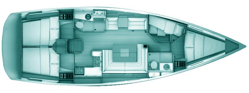 Sun Odyssey 439 (4 cabins)